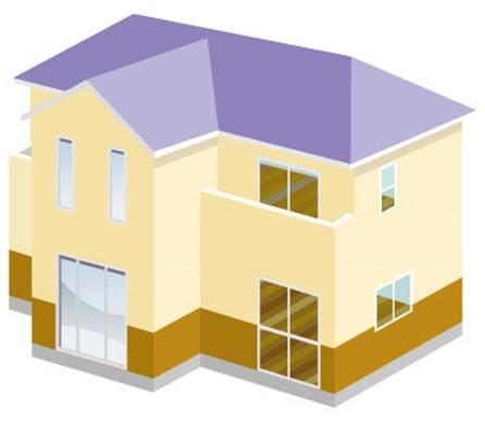 樹脂サイディングの特徴の建物の絵