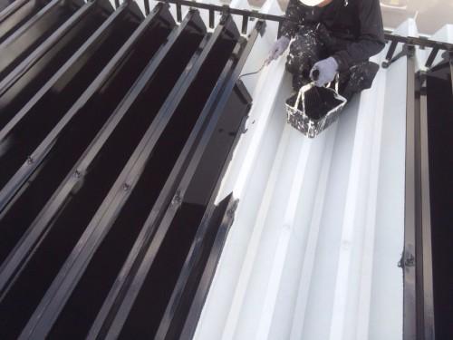 中央区Kさま中塗り屋根