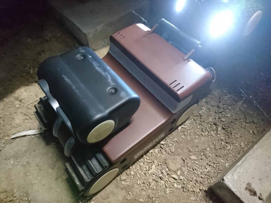 床下点検ロボットモーグルの写真