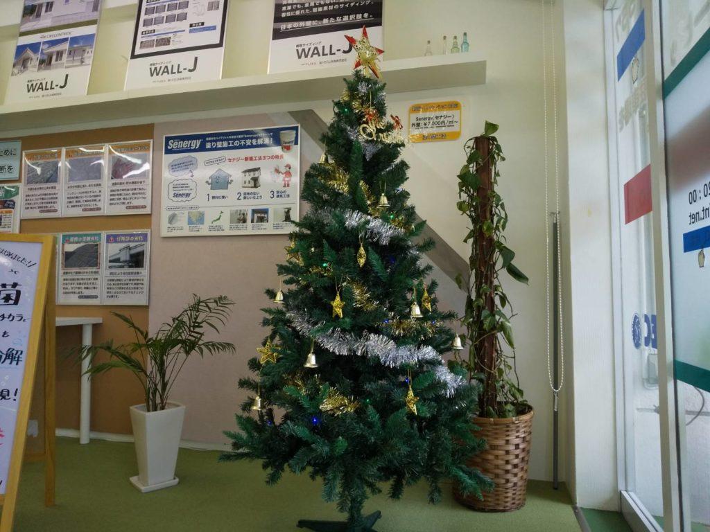 写真:(株)満天 ショールーム内 クリスマスツリー