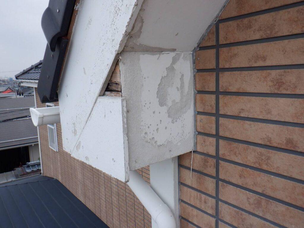 写真:破風板の劣化