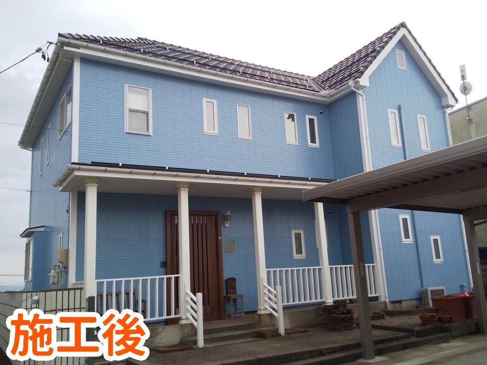 写真:西区I様邸外壁塗装施工後