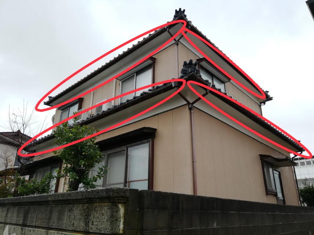画像:軒天井の場所