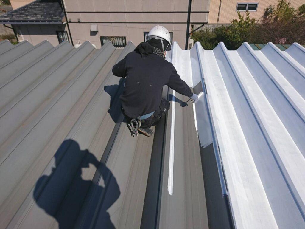 画像:㈲カーフレッシュ新潟様 工場屋根塗装工事